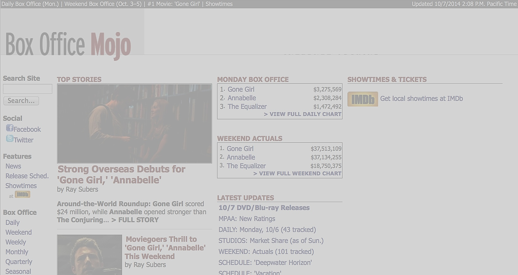 Updated box office mojo mysteriously disappears returns buzzhub - Mojo box office worldwide ...