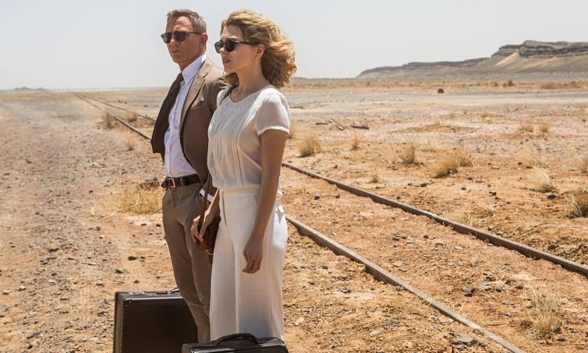 Daniel Craig and Léa Seydoux in Sam Mendes's 007 adventure Spectre.