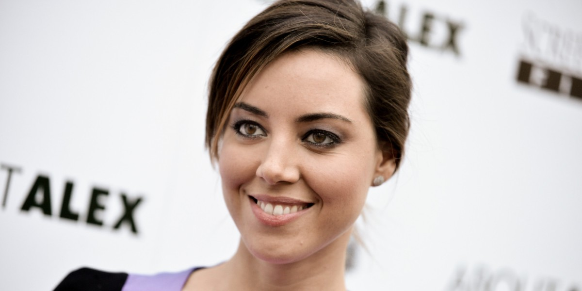 "Aubrey Plaza arrives at the LA Premiere of ""About Alex"" held at the ArcLight Hollywood on Wednesday, Aug. 6, 2014, in Los Angeles. (Photo by Richard Shotwell/Invision/AP)"